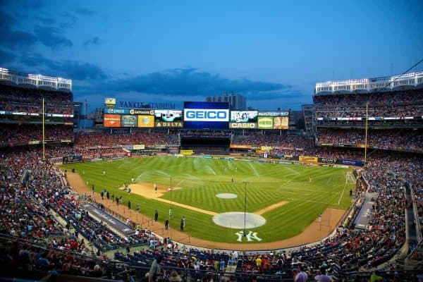 Liverpool take on Manchester City during the International Champions Cup Group B match at the Yankee Stadium on day ten of the club's USA Tour. (Pic by David Rawcliffe/Propaganda)