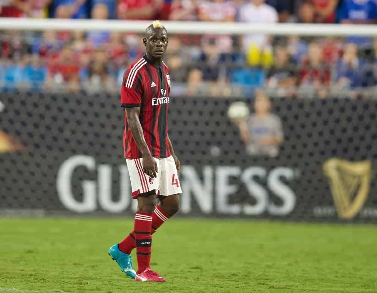 AC Milan's Mario Balotelli in action against Liverpool during the International Champions Cup Group B match at the Bank of America Stadium on day thirteen of the club's USA Tour. (Pic by David Rawcliffe/Propaganda)