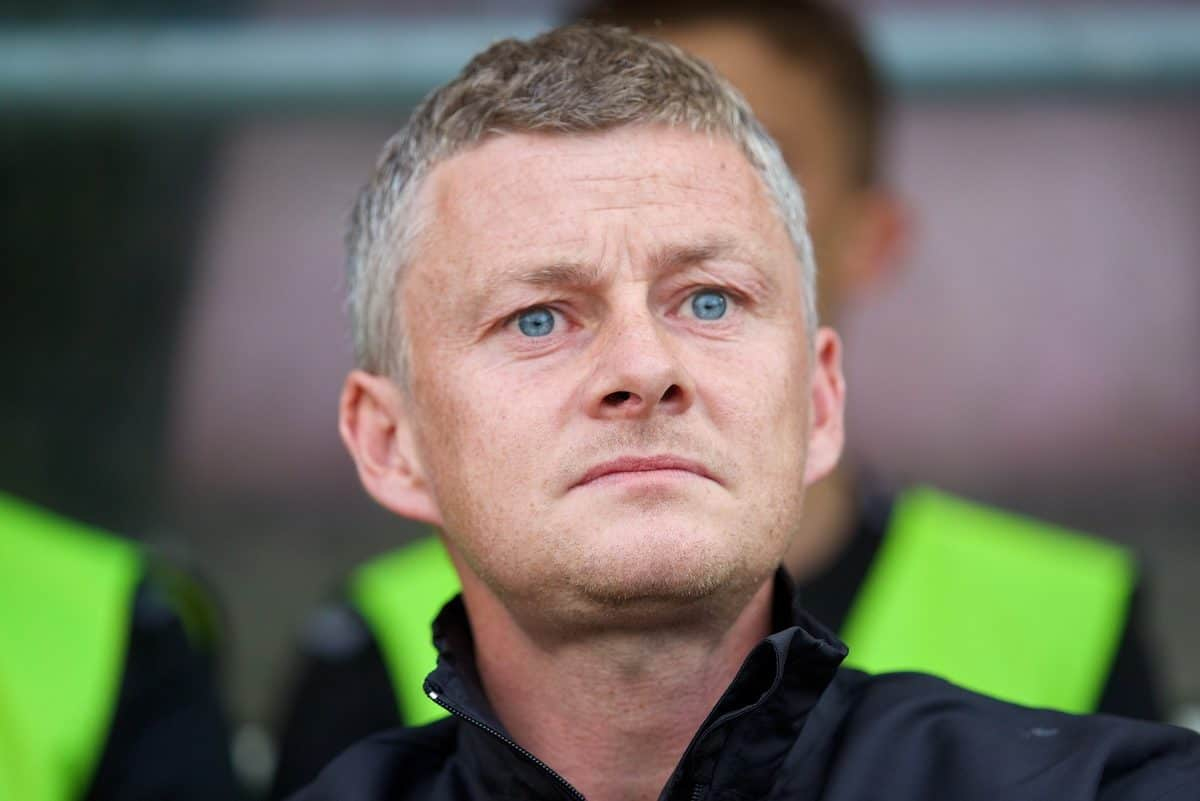 NORTHAMPTON, ENGLAND - Wednesday, August 13, 2014: Cardiff City's manager Ole Gunnar Solskjaer [SolskjÊr] before the Football League Cup 1st Round match against Coventry City at Sixfields Stadium. (Pic by David Rawcliffe/Propaganda)