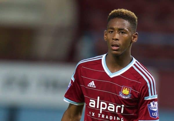 West ham united s reece oxford in action against liverpool during the