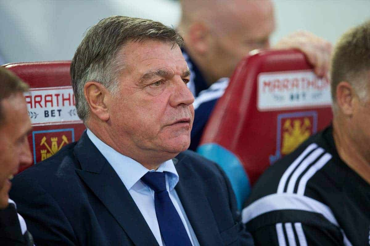 LONDON, ENGLAND - Saturday, September 20, 2014: West Ham United's manager Sam Allardyce before the Premier League match against Liverpool at Upton Park. (Pic by David Rawcliffe/Propaganda)