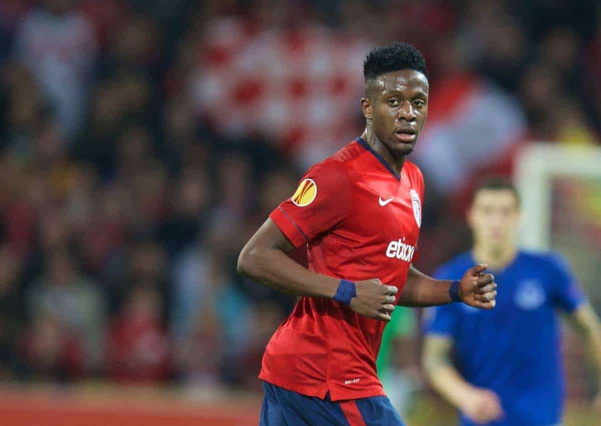 Lille OSC's Divock Origi in action against Everton during the UEFA Europa League Group H match at Stade Pierre-Mauroy. (Pic by David Rawcliffe/Propaganda)