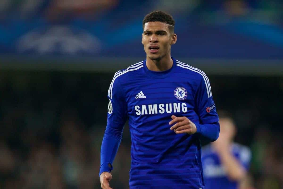 Chelsea's Ruben Loftus-Cheek, making his debut, in action against Sporting Clube de Portugal during the final UEFA Champions League Group G match at Stamford Bridge. (Pic by David Rawcliffe/Propaganda)