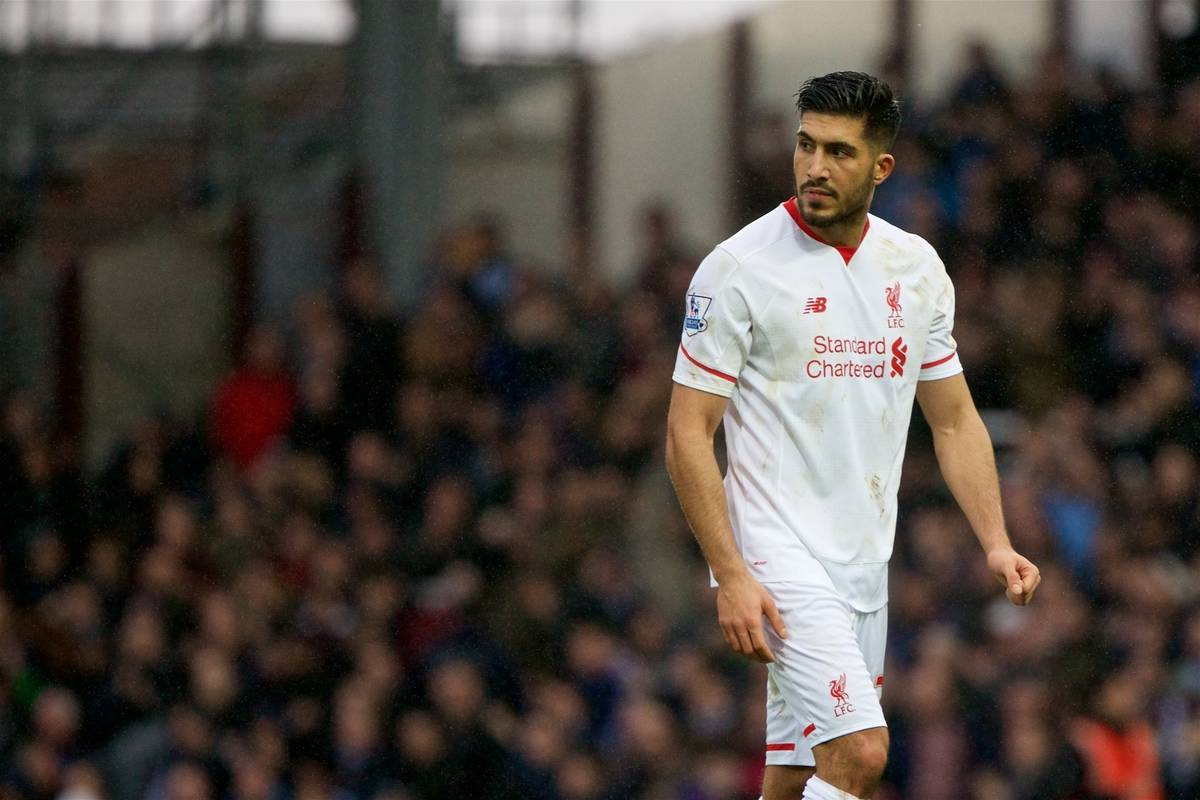 LONDON, ENGLAND - Saturday, January 2, 2016: Liverpool's Emre Can looks dejected as his side lose 2-0 to West Ham United after the Premier League match at Upton Park. (Pic by David Rawcliffe/Propaganda)