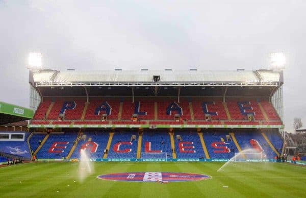LONDON, ENGLAND - Saturday, February 14, 2015: A general view of Selhurst Park before the FA Cup 5th Round match between Crystal Palace and Liverpool. (Pic by David Rawcliffe/Propaganda)