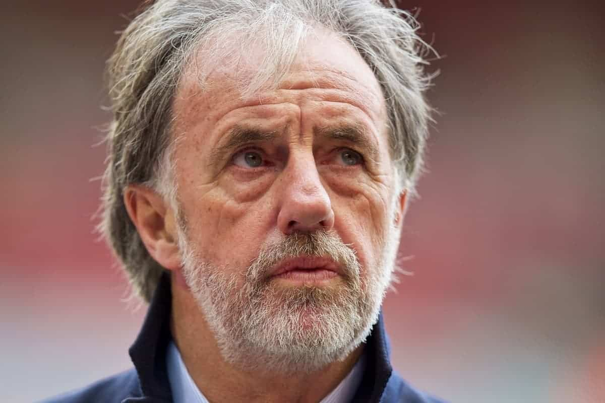 LIVERPOOL, ENGLAND - Sunday, March 1, 2015: Former Liverpool player and BBC pundit Mark Lawrenson before the Premier League match between Liverpool and Manchester City at Anfield. (Pic by David Rawcliffe/Propaganda)