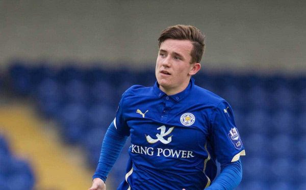 Leicester City's Ben Chilwell in action against Liverpool during the Under 21 FA Premier League match at the Deva Stadium. (Pic by David Rawcliffe/Propaganda)