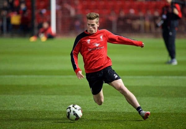ADELAIDE, AUSTRALIA - Sunday, July 19, 2015: Liverpool's Ryan Kent during a training session at Coopers Stadium ahead of a preseason friendly match against Adelaide United on day seven of the club's preseason tour. (Pic by David Rawcliffe/Propaganda)