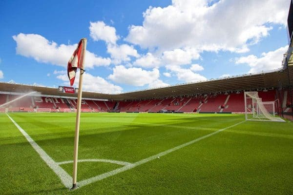 SOUTHAMPTON, ENGLAND - Saturday, August 15, 2015: A general view of Southampton's St. Mary's Stadium before the FA Premier League match against Everton. (Pic by David Rawcliffe/Propaganda)