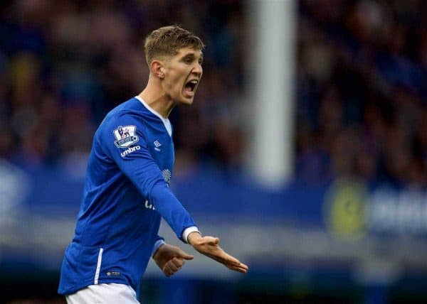 LIVERPOOL, ENGLAND - Saturday, September 12, 2015: Everton's John Stones in action against Chelsea during the Premier League match at Goodison Park. (Pic by David Rawcliffe/Propaganda)