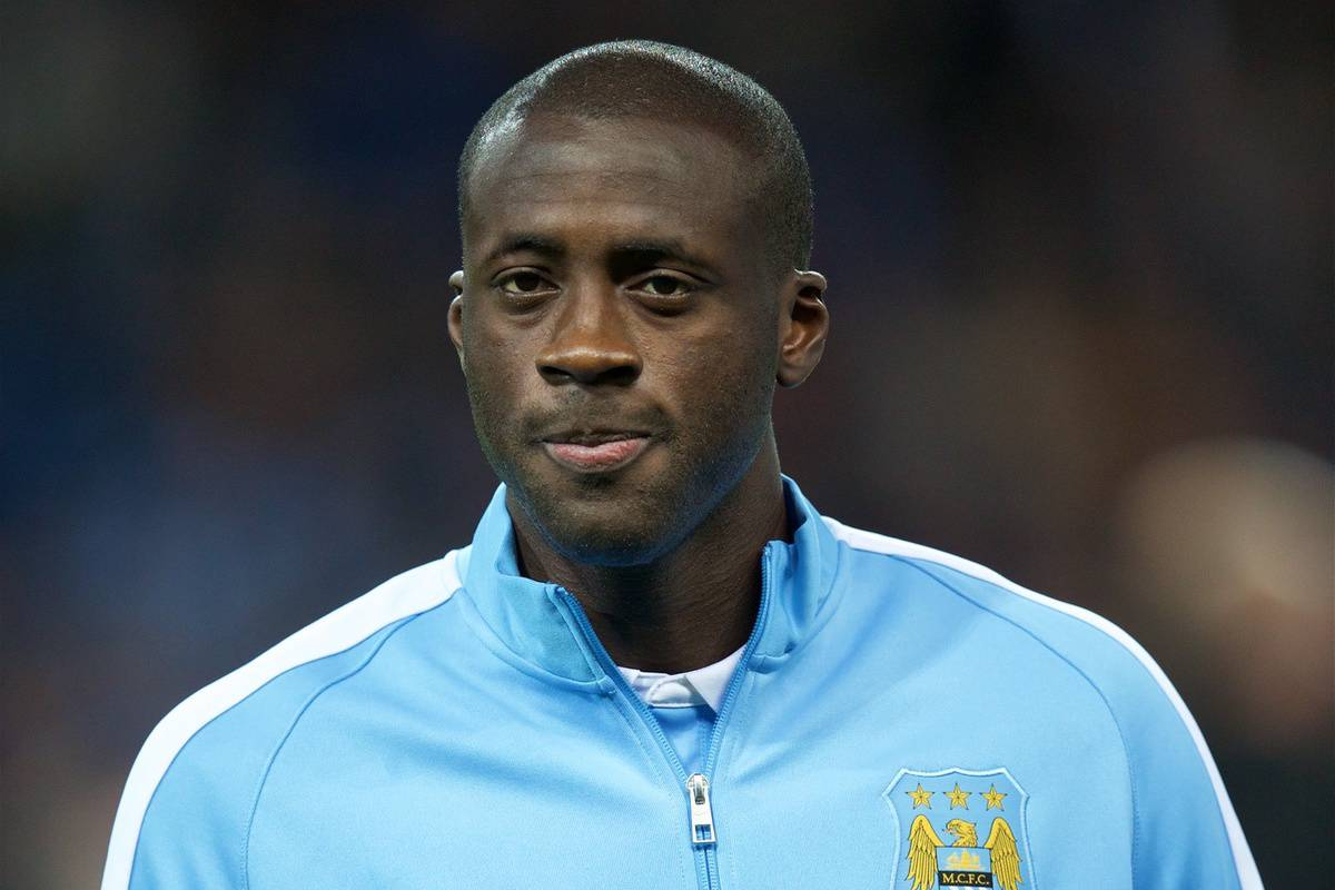 MANCHESTER, ENGLAND - Tuesday, September 15, 2015: Manchester City's Yaya Toure before the UEFA Champions League Group D match against Juventus at the City of Manchester Stadium. (Pic by David Rawcliffe/Propaganda)