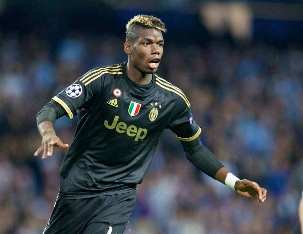 MANCHESTER, ENGLAND - Tuesday, September 15, 2015: Juventus' Paul Pogba during the UEFA Champions League Group D match against Manchester City at the City of Manchester Stadium. (Pic by David Rawcliffe/Propaganda)