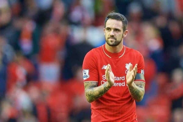 LIVERPOOL, ENGLAND - Sunday, September 20, 2015: Liverpool's Danny Ings looks dejected after the 1-1 draw with Norwich City during the Premier League match at Anfield. (Pic by David Rawcliffe/Propaganda)