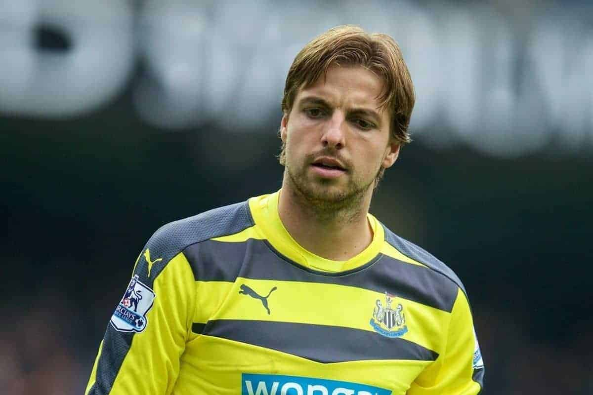 MANCHESTER, ENGLAND - Saturday, October 3, 2015: Newcastle United's goalkeeper Tim Krul looks dejected as Manchester City score the fifth of their six goals during the Premier League match at the City of Manchester Stadium. (Pic by David Rawcliffe/Propaganda)