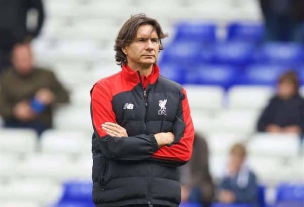 LONDON, ENGLAND - Saturday, October 17, 2015: Liverpool's assistant manager Zeljko Buvac before the Premier League match against Tottenham Hotspur at White Hart Lane. (Pic by David Rawcliffe/Kloppaganda)