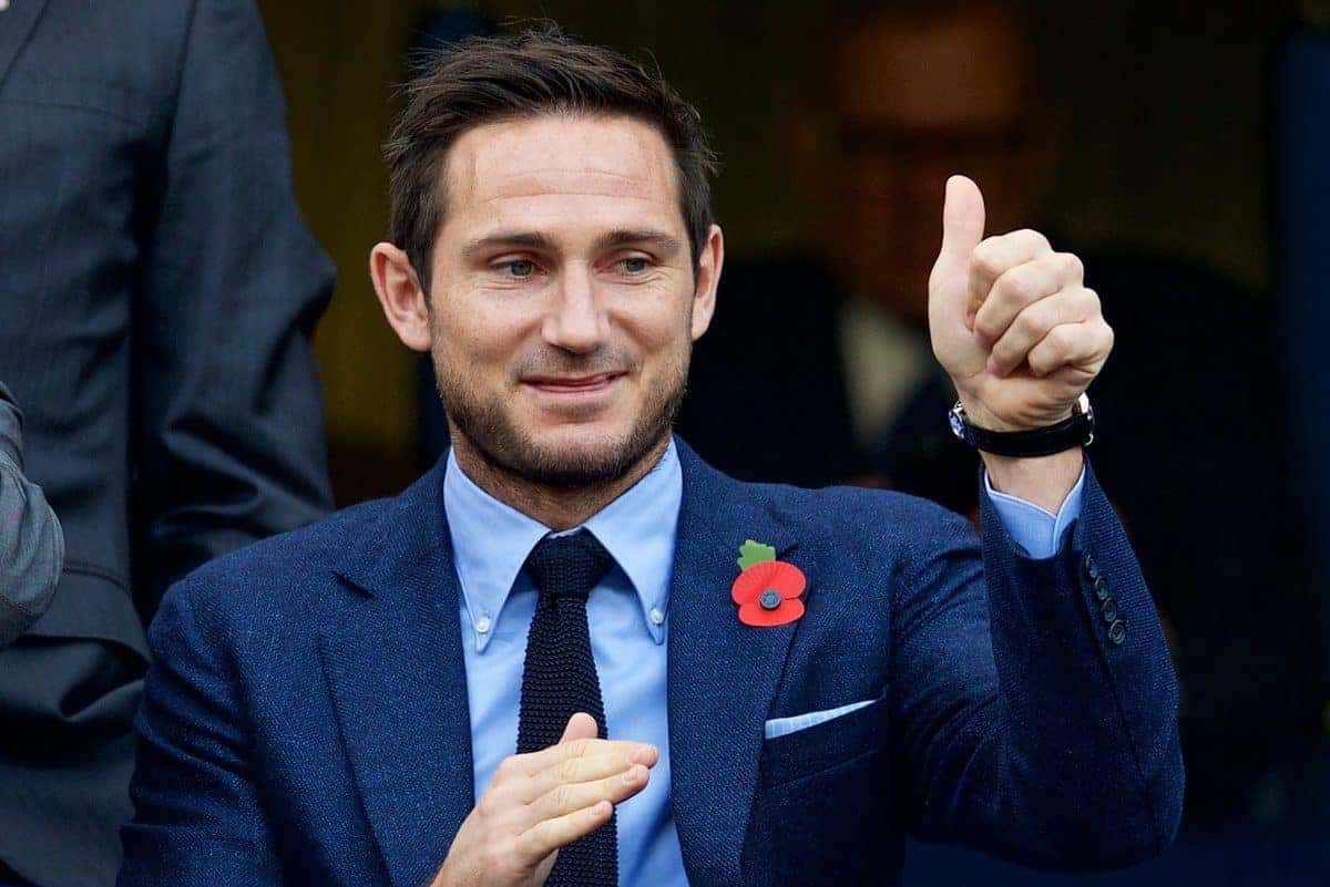 LONDON, ENGLAND - Saturday, October 31, 2015: Former Chelsea players Frank Lampard Senior and Junior before the Premier League match against Liverpool at Stamford Bridge. (Pic by David Rawcliffe/Propaganda)
