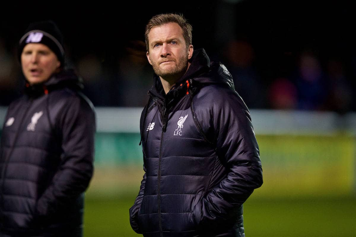 BANGOR, WALES - Wednesday, January 4, 2017: Liverpool's Academy Director Alex Inglethorpe before an Under-23 friendly match against Bangor City at Bangor University Stadium. (Pic by David Rawcliffe/Propaganda)