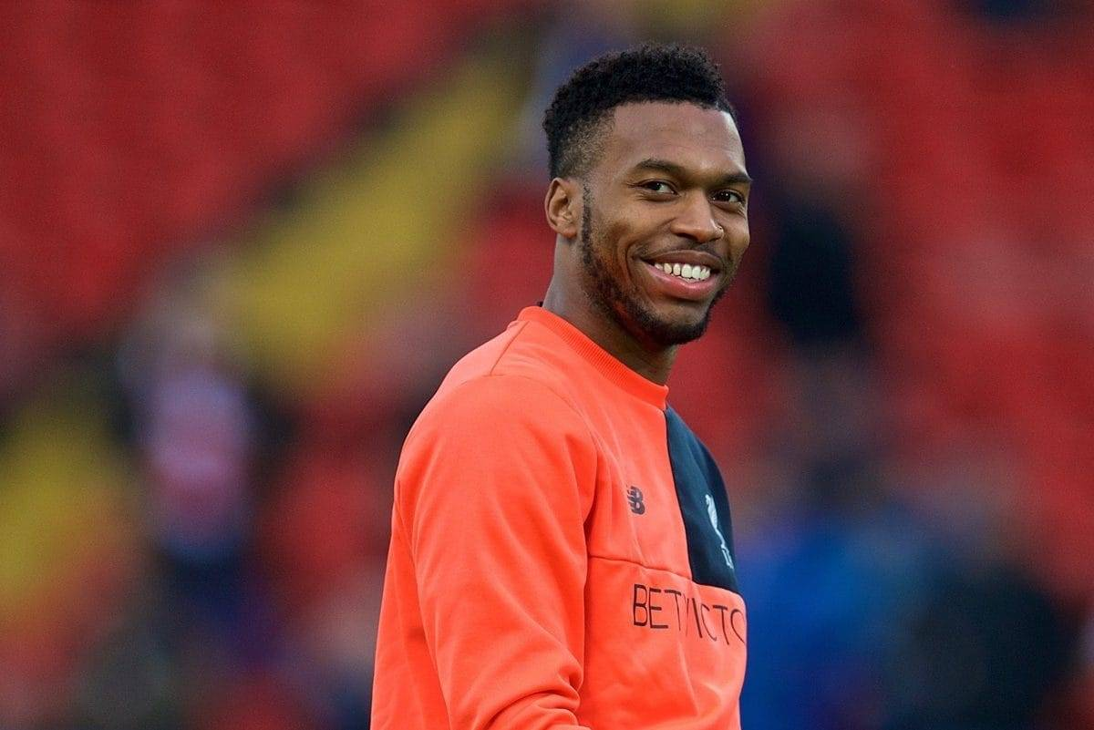 LIVERPOOL, ENGLAND - Saturday, January 7, 2017: Liverpool's Daniel Sturridge warms-up before the FA Cup 3rd Round match against Plymouth Argyle at Anfield. (Pic by David Rawcliffe/Propaganda)
