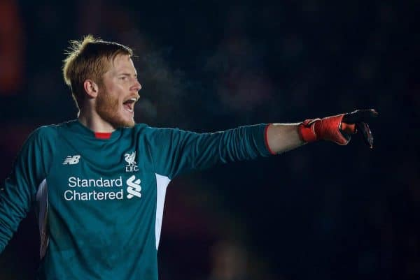 Liverpool's goalkeeper Adam Bogdan in action against Exeter City during the FA Cup 3rd Round match at St. James Park. (Pic by David Rawcliffe/Propaganda)
