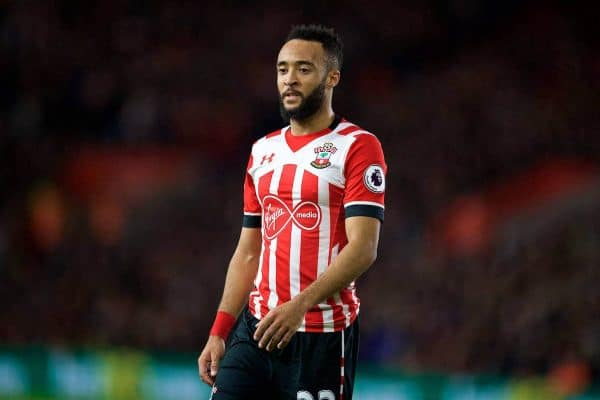 SOUTHAMPTON, ENGLAND - Wednesday, January 11, 2017: Southampton's Nathan Redmond in action against Liverpool during the Football League Cup Semi-Final 1st Leg match at St. Mary's Stadium. (Pic by David Rawcliffe/Propaganda)