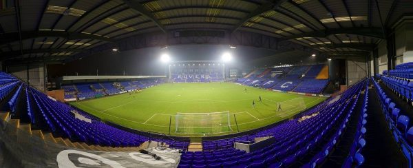 BIRKENHEAD, ENGLAND - Tuesday, January 19, 2016: A general view of Tranmere Rovers' Prenton Park before the Under-21 Premier League Cup match between Liverpool and Leeds United. (Pic by David Rawcliffe/Propaganda)