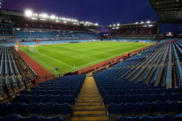 BIRMINGHAM, ENGLAND - Tuesday, March 1, 2016: A general view of Aston Villa's Villa Park stadium before the Premier League match against Everton. (Pic by David Rawcliffe/Propaganda)