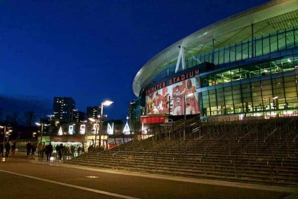 LONDON, ENGLAND - Friday, March 4, 2016: A general view of the exterior of the Emirates Stadium before the FA Youth Cup 6th Round match between Arsenal and Liverpool. (Pic by Paul Marriott/Propaganda)