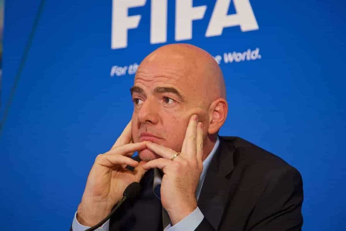 CARDIFF, WALES - Friday, March 4, 2016: New FIFA president Gianni Infantino during a press conference ahead of the International Football Association Board (IFAB) 130th Annual General Meeting (AGM) at the St. David's Hotel. (Pic by David Rawcliffe/Propaganda)