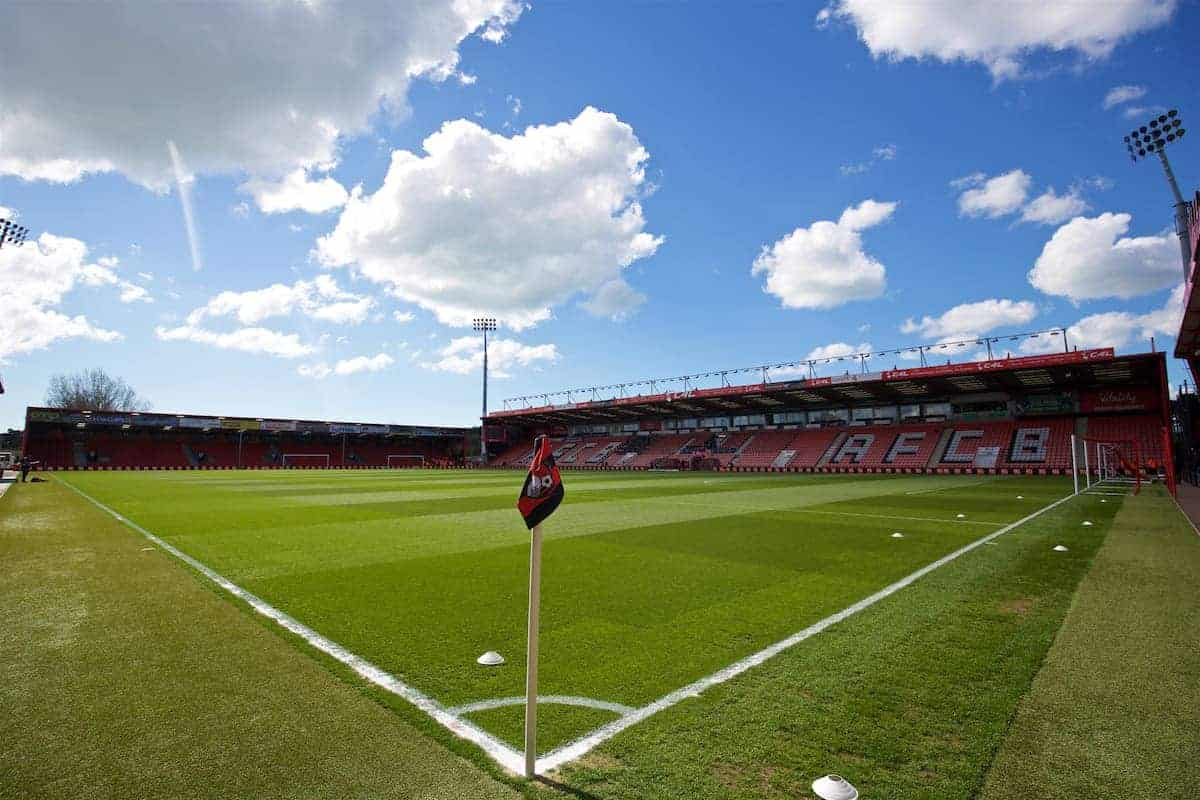 BOURNEMOUTH, ENGLAND - Sunday, April 17, 2016: A general view of Bournemouth's Dean Court Stadium before the FA Premier League match against Liverpool. (Pic by David Rawcliffe/Propaganda)