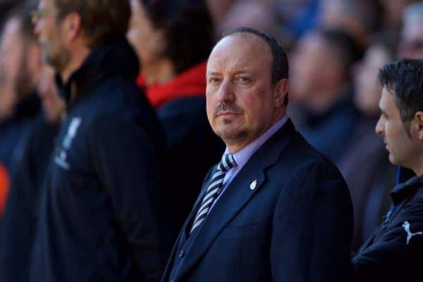 Newcastle United's manager Rafael Benitez before the Premier League match against Liverpool at Anfield. (Pic by Bradley Ormesher/Propaganda)