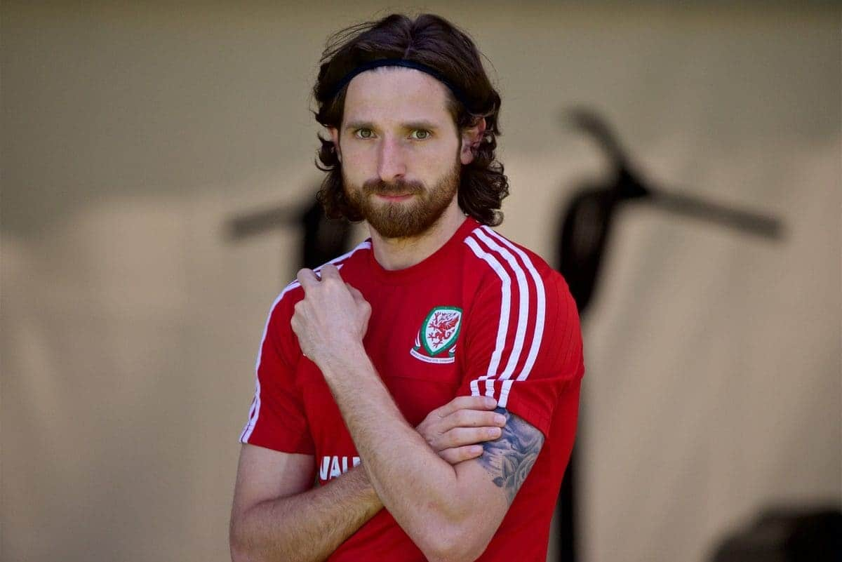 VALE DO LOBO, PORTUGAL - Friday, May 27, 2016: Wales' Joe Allen during day four of the pre-UEFA Euro 2016 training camp at the Vale Do Lobo resort in Portugal. (Pic by David Rawcliffe/Propaganda)