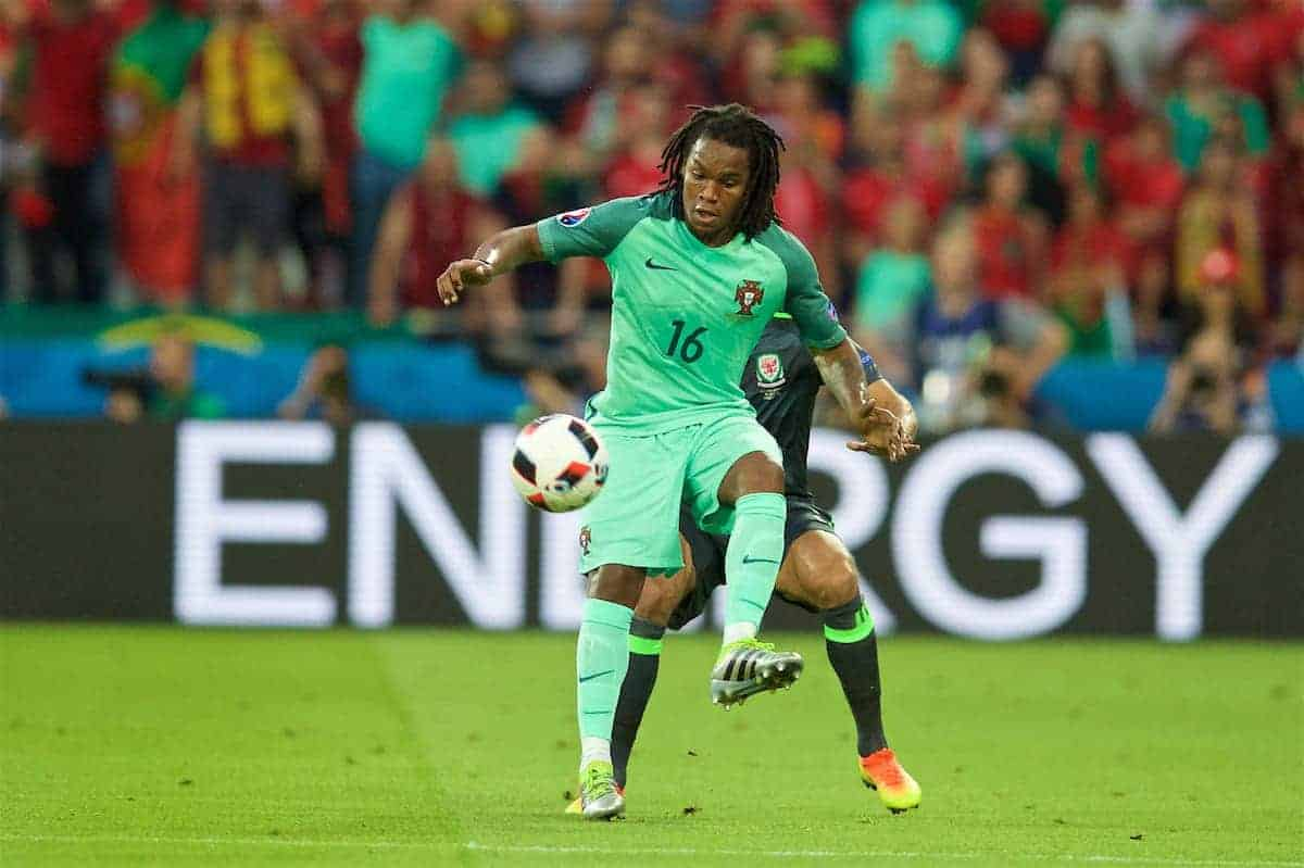 LYON, FRANCE - Wednesday, July 6, 2016: Portugal's Renato Sanches in action against Wales during the UEFA Euro 2016 Championship Semi-Final match at the Stade de Lyon. (Pic by David Rawcliffe/Propaganda)