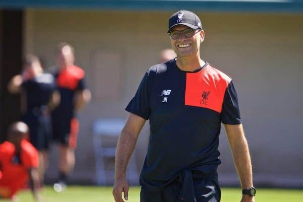 STANFORD, USA - Thursday, July 21, 2016: Liverpool's manager Jürgen Klopp during a training session in the Laird Q. Cagan Stadium at Stanford University on day one of the club's USA Pre-season Tour. (Pic by David Rawcliffe/Propaganda)