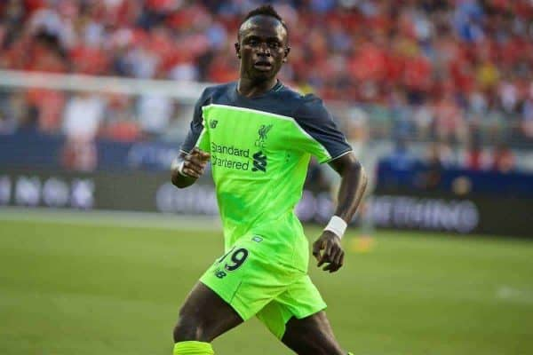 Liverpool's Sadio Mane in action against AC Milan during the International Champions Cup 2016 game on day ten of the club's USA Pre-season Tour at the Levi's Stadium. (Pic by David Rawcliffe/Propaganda)
