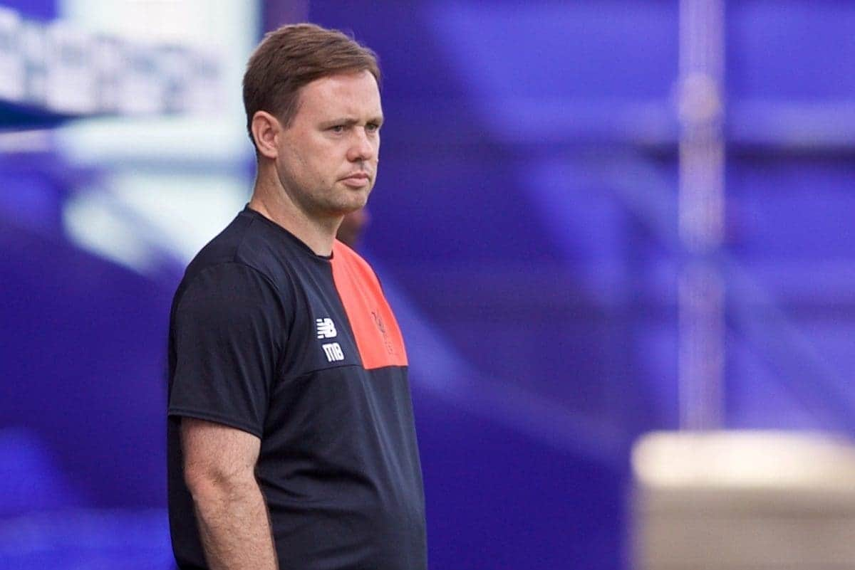BIRKENHEAD, ENGLAND - Sunday, August 14, 2016: Liverpool's U23 manager Michael Beale against Southampton during the Under-23 FA Premier League 2 match at Prenton Park. (Pic by Gavin Trafford/Propaganda)