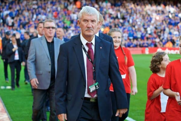 Former Liverpool player Terry McDermott before the FA Premier League match against Leicester City at Anfield. (Pic by David Rawcliffe/Propaganda)
