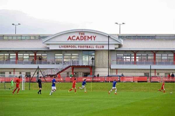 KIRKBY, ENGLAND - Saturday, September 24, 2016: Liverpool take on Everton during the Under-18 FA Premier League match at the Kirkby Academy. (Pic by David Rawcliffe/Propaganda)