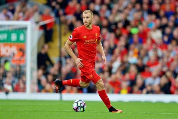 LIVERPOOL, ENGLAND - Saturday, September 24, 2016: Liverpool's Ragnar Klavan in action against Hull City during the FA Premier League match at Anfield. (Pic by David Rawcliffe/Propaganda)