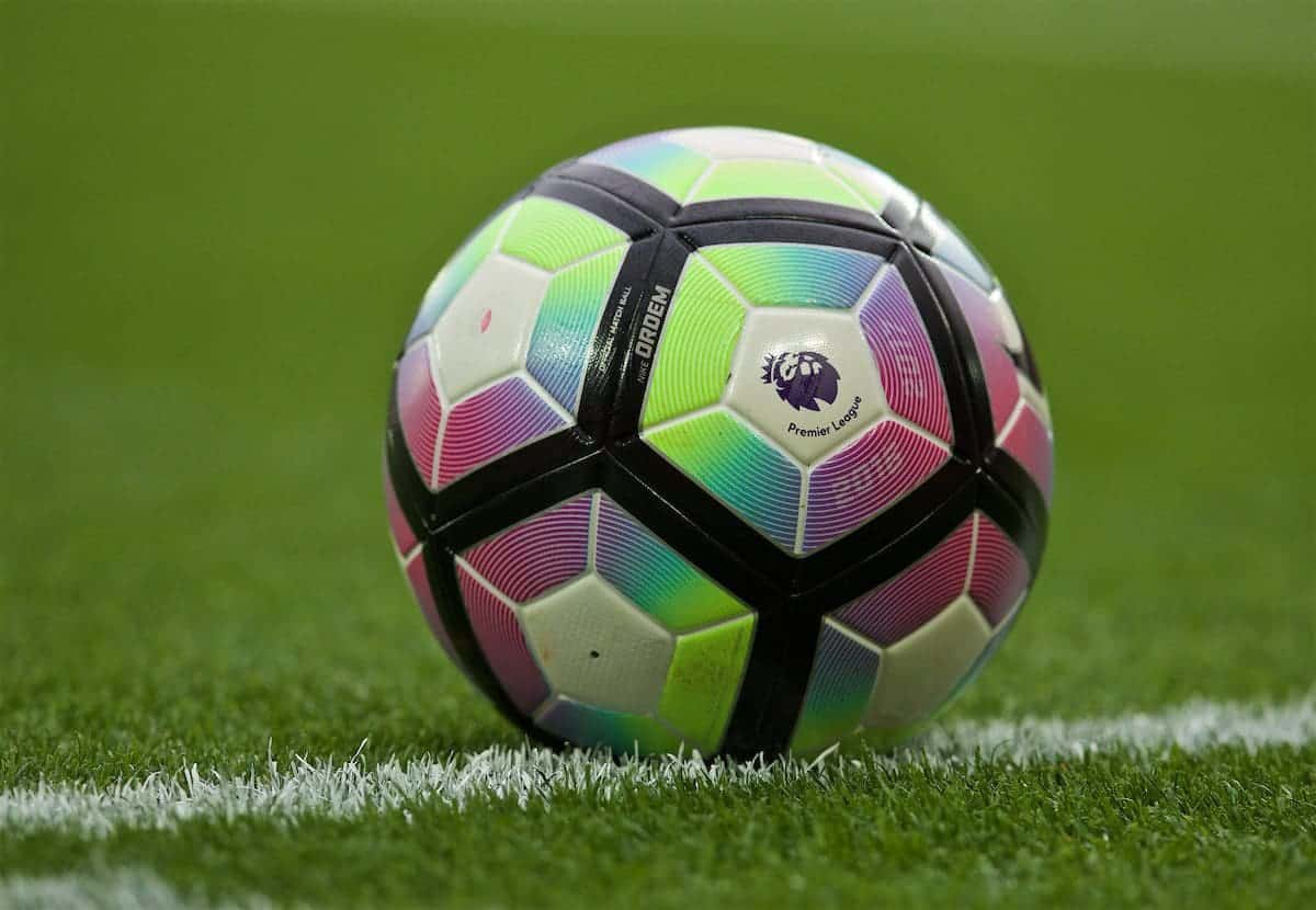 LIVERPOOL, ENGLAND - Saturday, September 24, 2016: The official Nike Premier League match-ball during the FA Premier League match at Anfield. (Pic by David Rawcliffe/Propaganda)