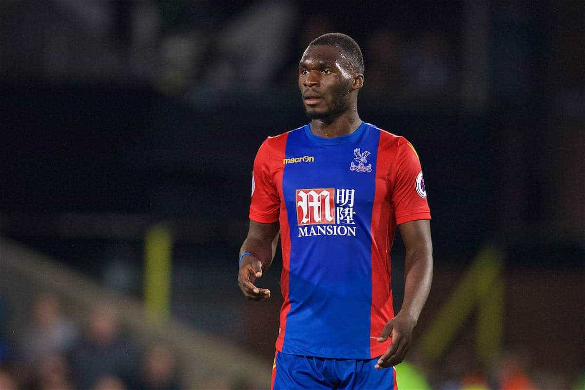 LONDON, ENGLAND - Saturday, October 29, 2016: Crystal Palace's Christian Benteke in action against Liverpool during the FA Premier League match at Selhurst Park. (Pic by David Rawcliffe/Propaganda)