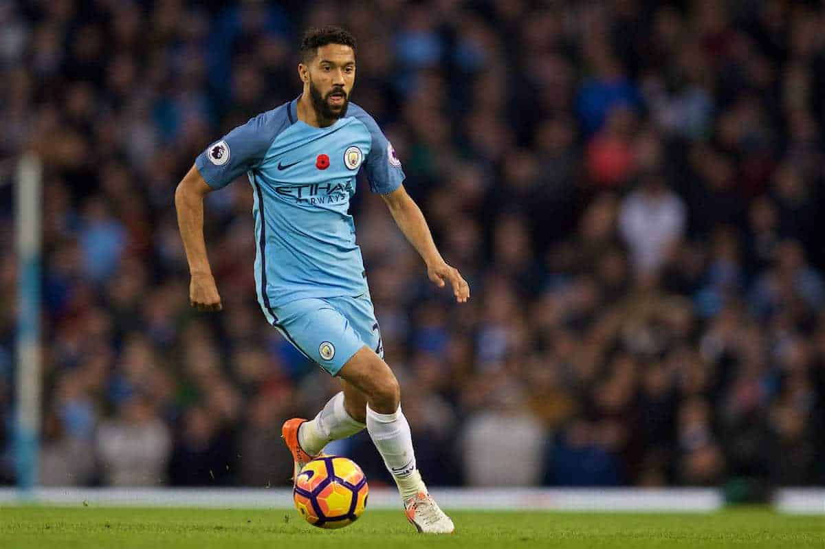 MANCHESTER, ENGLAND - Saturday, November 5, 2016: Manchester City's Gael Clichy in action against Middlesbrough during the FA Premier League match at the City of Manchester Stadium. (Pic by David Rawcliffe/Propaganda)