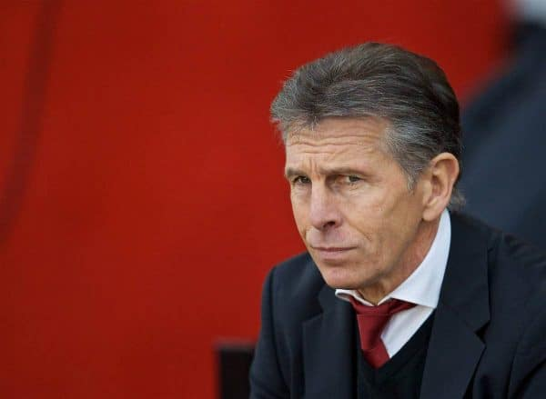 SOUTHAMPTON, ENGLAND - Saturday, November 19, 2016: Southampton's manager Claude Puel before the FA Premier League match against Liverpool at St. Mary's Stadium. (Pic by David Rawcliffe/Propaganda)