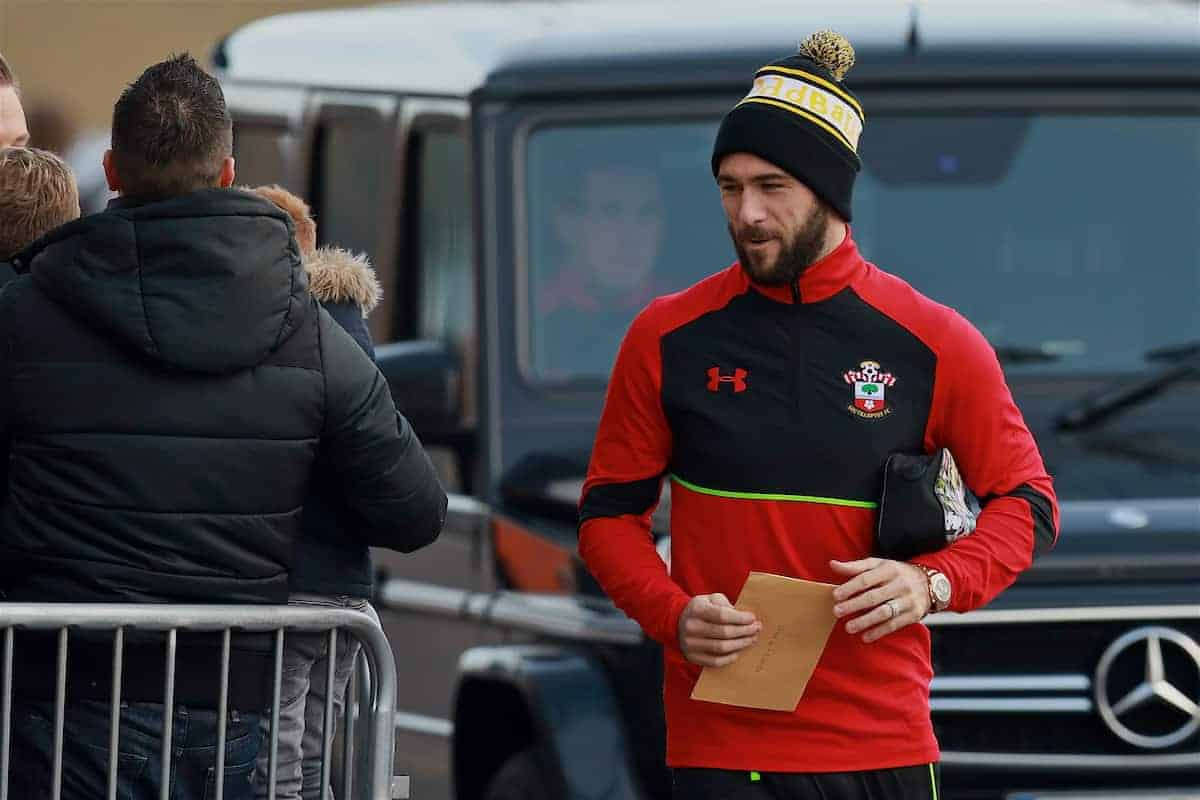 SOUTHAMPTON, ENGLAND - Saturday, November 19, 2016: Southampton's Charlie Austin arrives ahead of the FA Premier League match against Everton at St. Mary's Stadium. (Pic by David Rawcliffe/Propaganda)