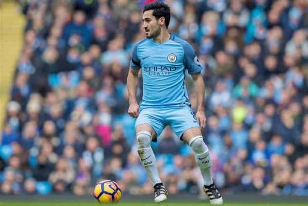 MANCHESTER, ENGLAND - Saturday, December 3, 2016: Manchester City's Ilkay Gundogan in action against Chelsea during the FA Premier League match at the City of Manchester Stadium. (Pic by Gavin Trafford/Propaganda)