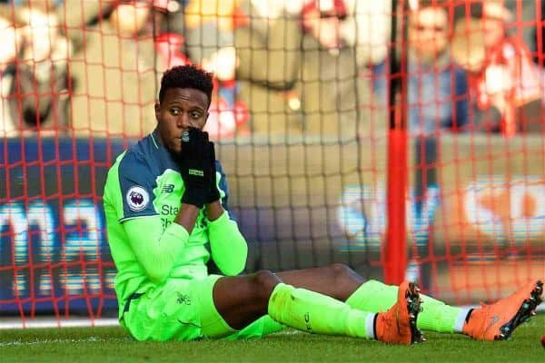 BOURNEMOUTH, ENGLAND - Sunday, December 4, 2016: Liverpool's Divock Origi looks dejected after missing a chance against AFC Bournemouth during the FA Premier League match at Dean Court. (Pic by David Rawcliffe/Propaganda)