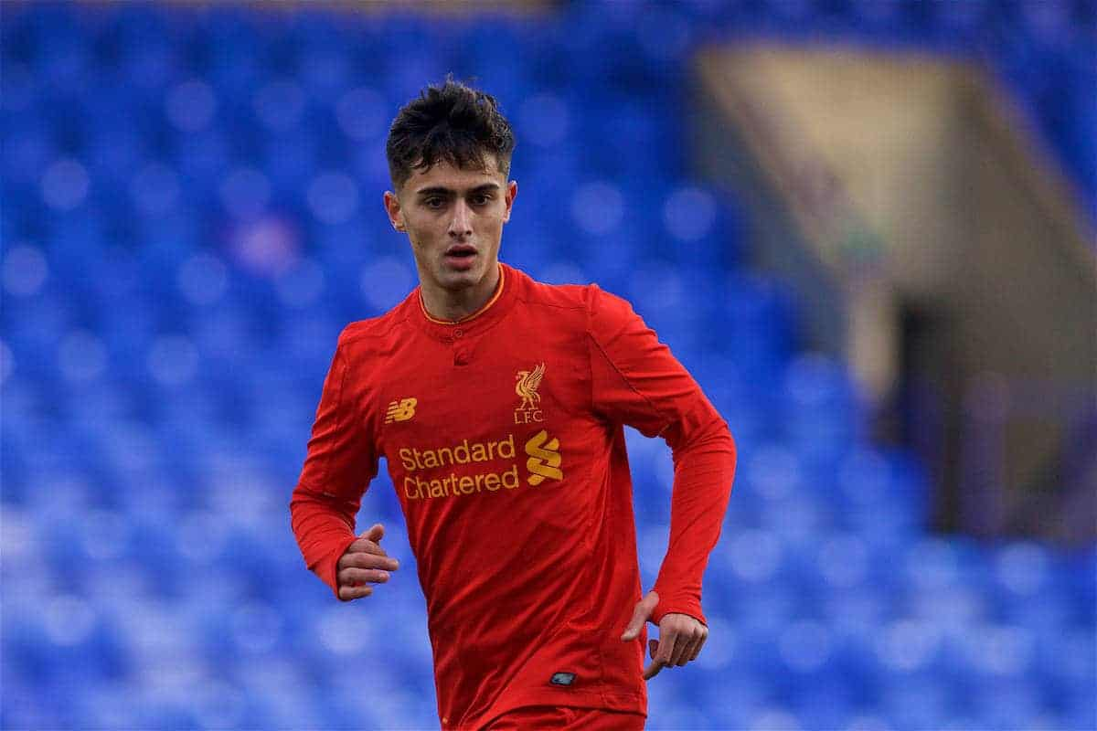 BIRKENHEAD, ENGLAND - Saturday, December 17, 2016: Liverpool's Yan Dhanda in action against Crystal Palace during the FA Youth Cup 3rd Round match at Prenton Park. (Pic by David Rawcliffe/Propaganda)