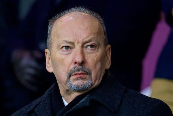 LIVERPOOL, ENGLAND - Saturday, December 30, 2017: Liverpool's chief executive officer Peter Moore before the FA Premier League match between Liverpool and Leicester City at Anfield. (Pic by David Rawcliffe/Propaganda)