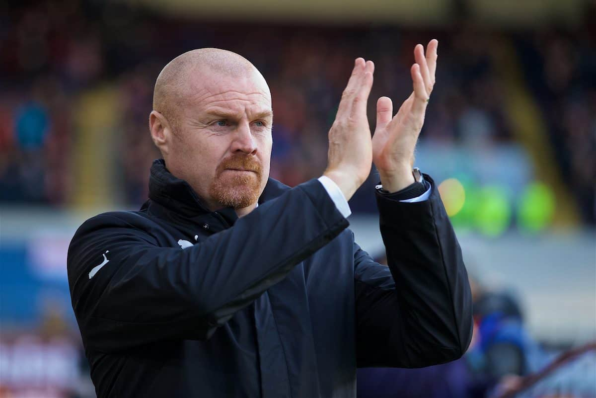 BURNLEY, ENGLAND - Saturday, January 14, 2017: Burnley's manager Sean Dyche before the FA Premier League match against Southampton at Turf Moor. (Pic by David Rawcliffe/Propaganda)