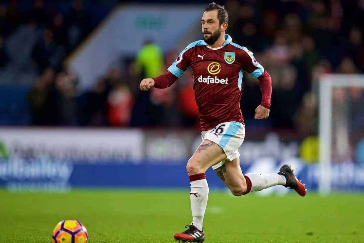 BURNLEY, ENGLAND - Saturday, January 14, 2017: Burnley's Steven Defour in action against Southampton during the FA Premier League match at Turf Moor. (Pic by David Rawcliffe/Propaganda)
