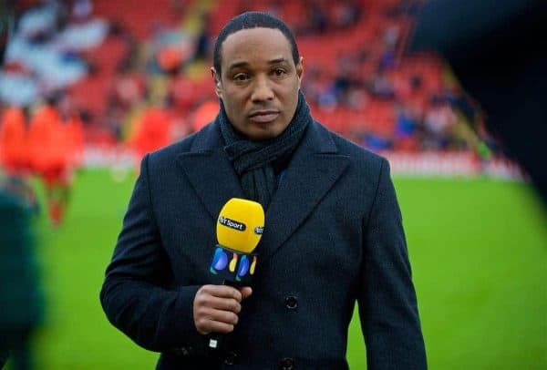 LIVERPOOL, ENGLAND - Saturday, January 28, 2017: Liverpool's Paul Ince, working as a pundit for BT Sport, before the FA Cup 4th Round match against Wolverhampton Wanderers at Anfield. (Pic by David Rawcliffe/Propaganda)